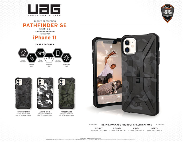 Op lung iPhone 11 UAG Pathfinder SE Camo