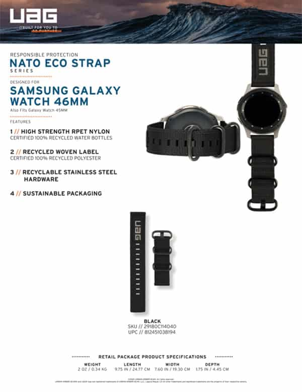 Day deo Samsung Galaxy Watch 46mm UAG NATO Eco Series 08 bengovn