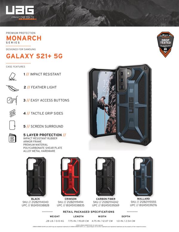ốp lưng UAG S21 Plus Monarch