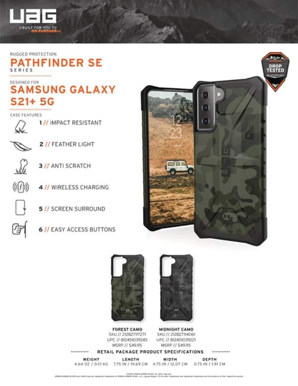 Op lung Samsung Galaxy S21 Plus 5G UAG Pathfinder SE Series 12 bengovn