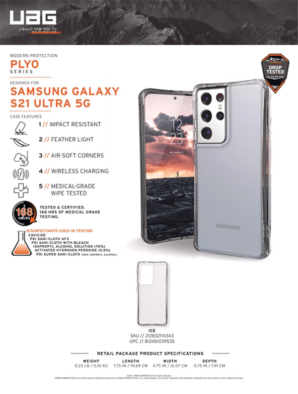 Op lung Samsung Galaxy S21 Ultra 5G UAG Plyo Series 09 bengovn