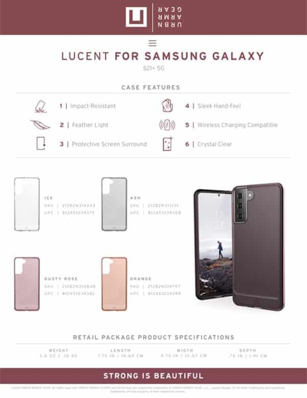 U Op lung Samsung Galaxy S21 Plus 5G UAG Lucent Series 26 bengovn