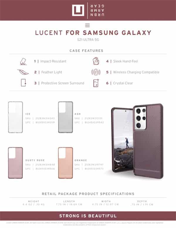 U Op lung Samsung Galaxy S21 Ultra 5G UAG Lucent Series 30 bengovn