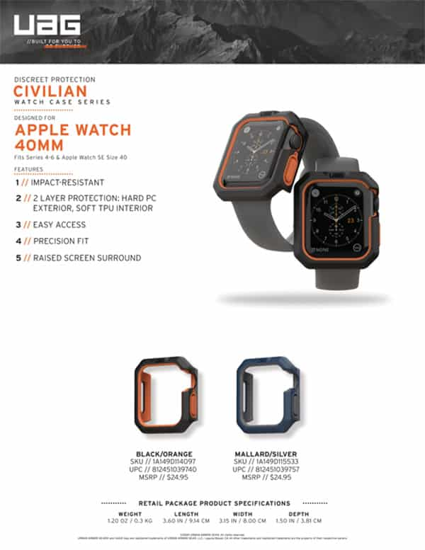 Op Apple Watch 44mm UAG Civilian 16 bengovn