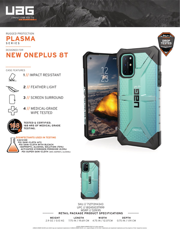 Op lung OnePlus 8T UAG Plasma Series 14 bengovn