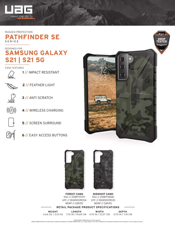 Op lung Samsung Galaxy S21 5G UAG Pathfinder SE Series 12 bengovn
