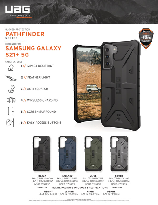Op lung Samsung Galaxy S21 Plus 5G UAG Pathfinder Series 26 bengovn