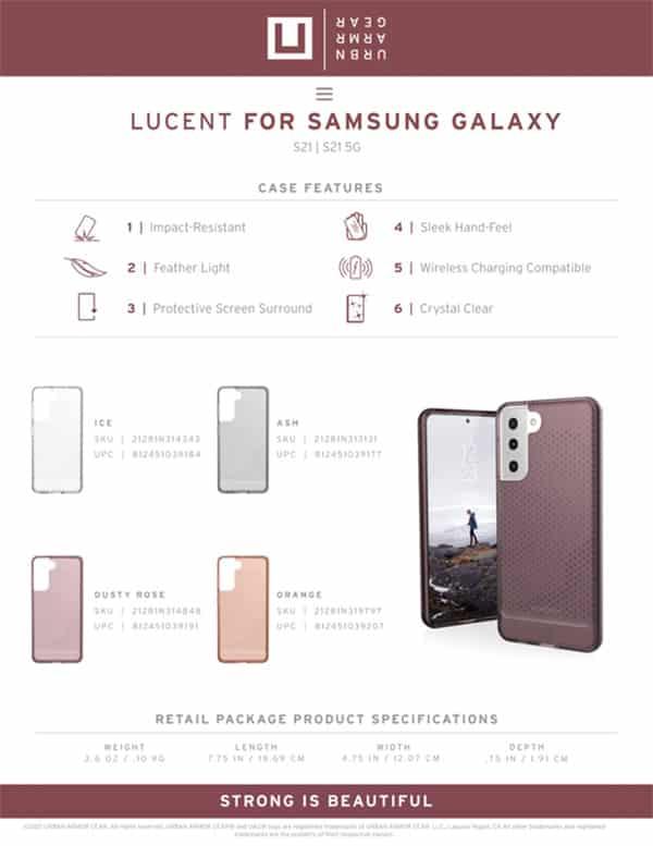 U Op lung Samsung Galaxy S21 5G UAG Lucent Series 26 bengovn
