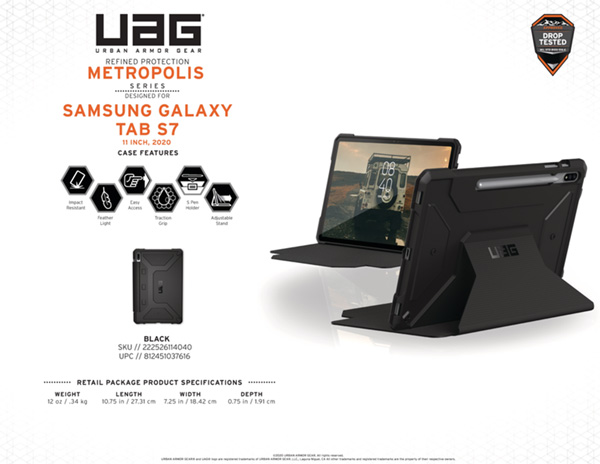 Bao da Samsung Galaxy Tab S7 11 UAG Metropolis 16 bengovn