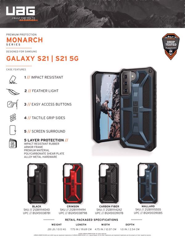 Op lung Samsung Galaxy S21 5G UAG Monarch Series 21 bengovn