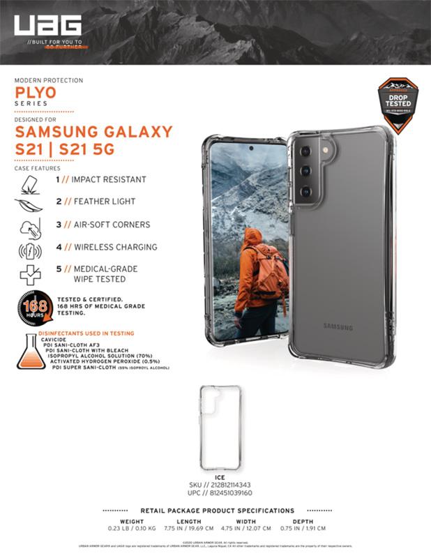 Op lung Samsung Galaxy S21 5G UAG Plyo Series 12 bengovn