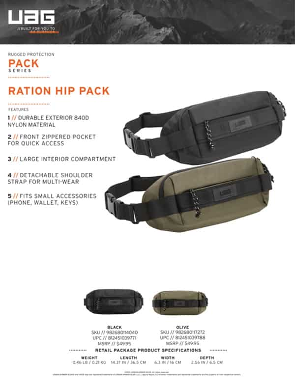 Tui deo cheo UAG Hip Pack chong nuoc 18 bengovn