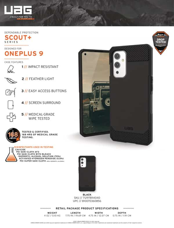 Op lung OnePlus 9 UAG Scout Series 14 bengovn