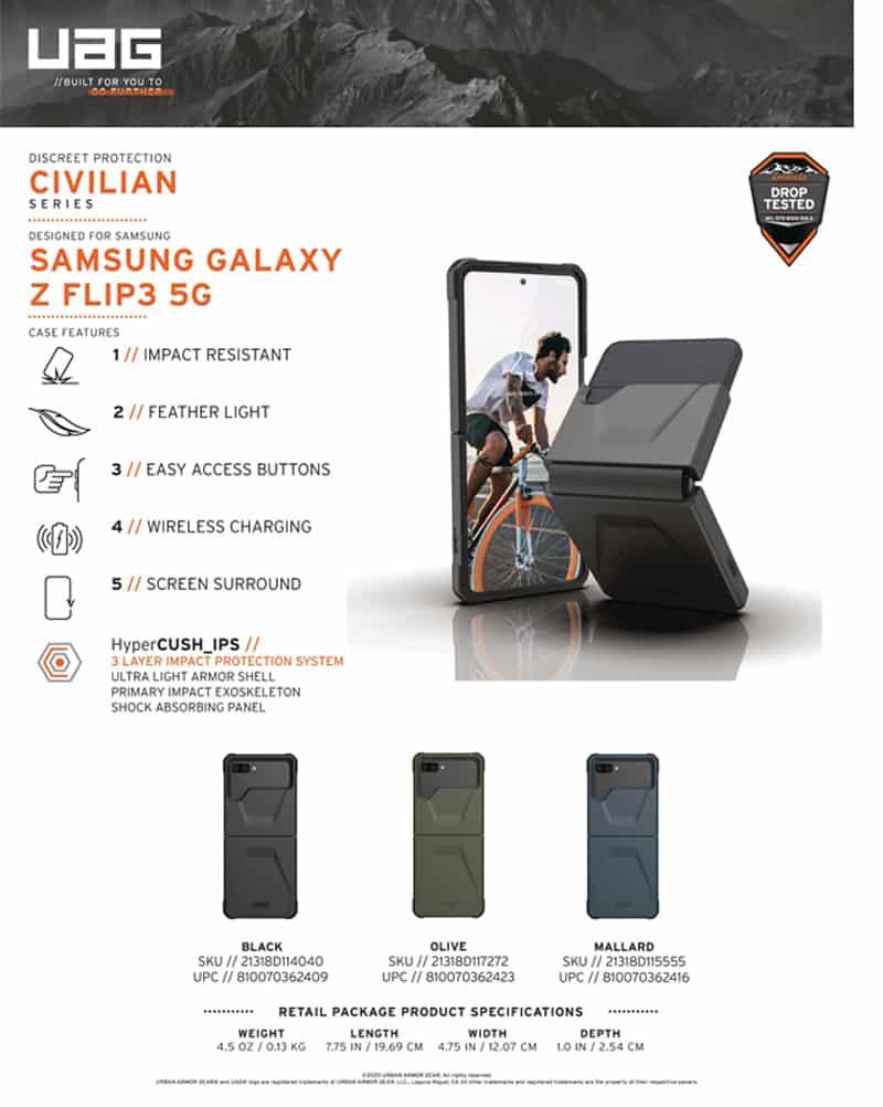 Op lung Samsung Galaxy Fold 3 UAG Civilian 20 bengovn