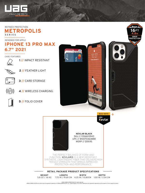 Bao da iPhone 13 Pro Max UAG Metropolis Series 14 bengovn