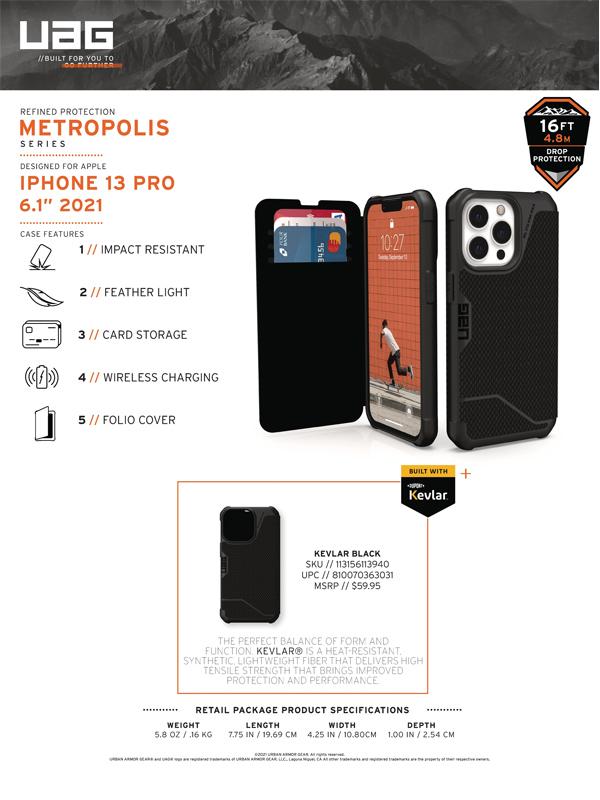 Bao da iPhone 13 Pro UAG Metropolis Series 10 bengovn