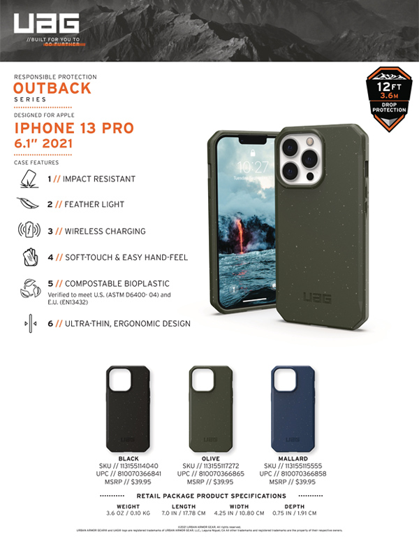 Op lung iPhone 13 Pro UAG Bio Outback Series 24 bengovn