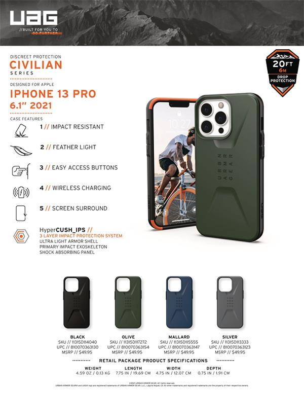 Op lung iPhone 13 Pro UAG Civilian Series 29 bengovn
