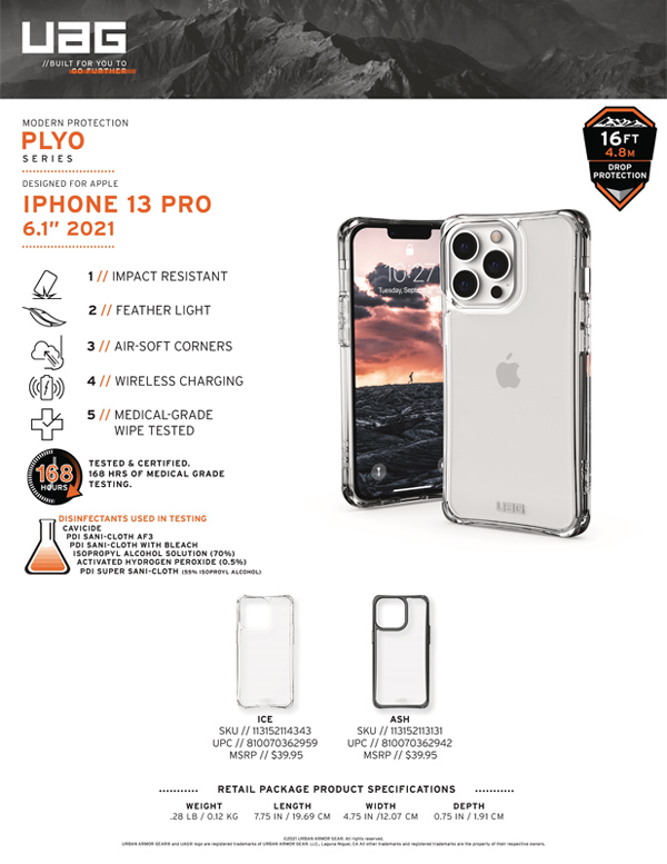 Op lung iPhone 13 Pro UAG Plyo Series 15 bengovn