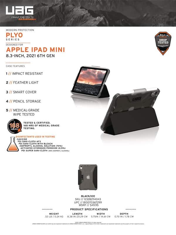 Bao da iPad Mini 6 8 3 2021 UAG Plyo Series 14 Bengovn