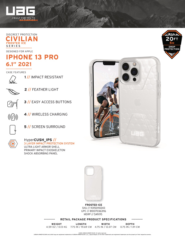Op lung iPhone 13 UAG Civilian Frosted Ice Series 10 bengovn 1