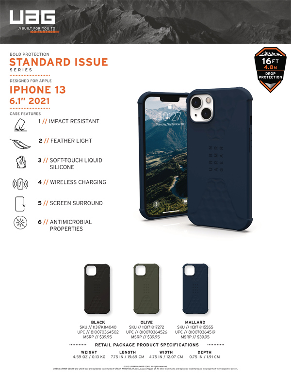 Op lung iPhone 13 UAG Standard Issue Series 24 bengovn 1